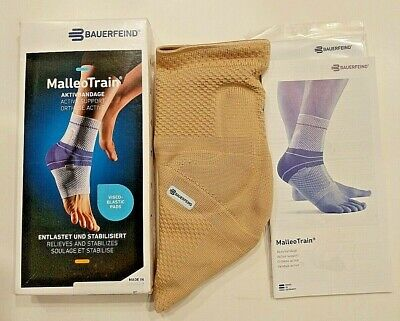 Bauerfeind MalleoTrain Active Ankle Support Brace, Natural Color, Left, Size 3