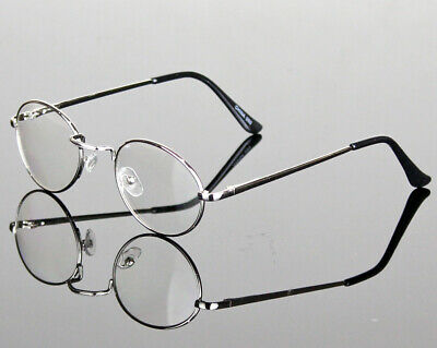 Men Women Clear Fake Lens Eye Glasses Retro Metal Oval Frame Fashion Optical (Fake Glasses For Women)