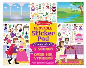 New! Just Arrive! Melissa & Doug Reusable Sticker Pad- Princess Castle # 4306