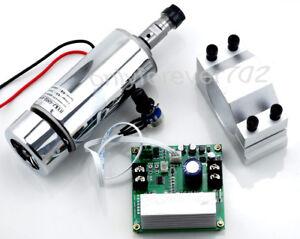 CNC 400W Spindle Motor ER11 & Mach3 PWM speed controller & Mount engraving set