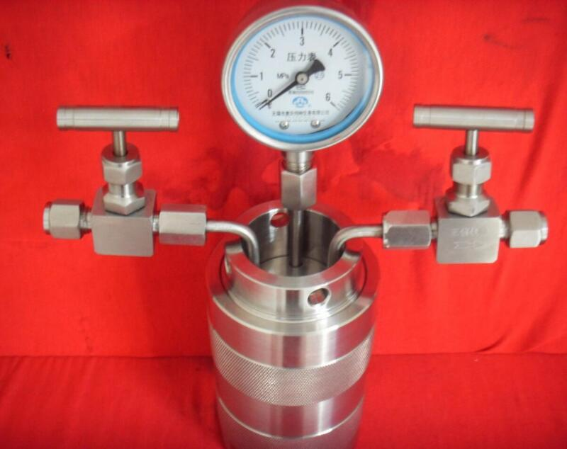 25-200ml Hydrothermal synthesis Autoclave Reactor vessel inlet outlet gauge 6Mpa