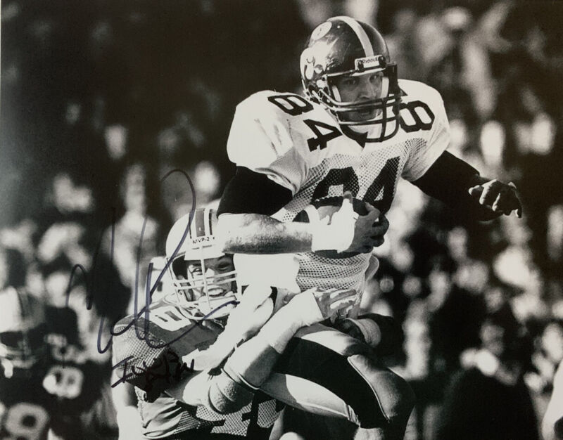 MARV COOK HAND SIGNED 8x10 PHOTO IOWA HAWKEYES FOOTBALL AUTOGRAPH AUTHENTIC