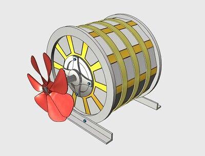 Magnet Motor Muammer Yildiz Free Energy Generator 3d Model 3d Print New 2020