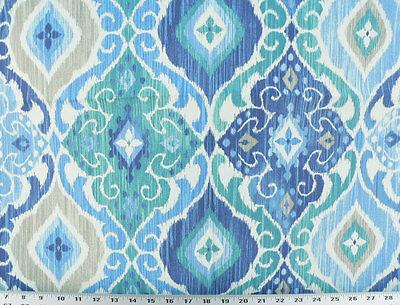 Drapery Upholstery Fabric Indoor/Outdoor Mottled Ikat Print - Cobalt Blue ()
