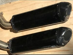 Carbon,2 Brothers mufflers Black series suit 2005 Yamaha R1 $450. Youngtown Launceston Area Preview