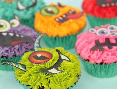 Eßpapier Dekoration Monster Augen Halloween Muffin Tortenaufleger backen neu (Halloween Backen Muffin)