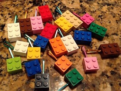 20 PC LOT Zipper Pulls LEGO Assorted Color Teacher Prizes, Birthday Favors,ect for sale  Shipping to India