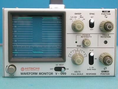 Vintage Crt Waveform Monitor Hitachi V-099