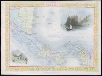 1850 - Original Antique Map of