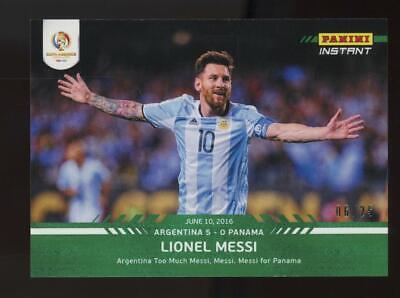 2016 Panini Instant Copa America Centenario #16 Lionel Messi 6/25