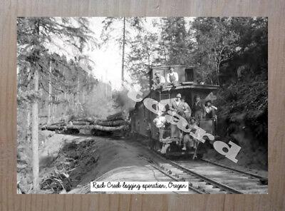 Historic Rock Creek logging operation, Oregon Logging Postcard