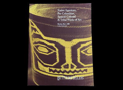 BUTTERFIELDS NATIVE AMERICAN, PRE-COLUMBIAN, SPANISH COLONIAL & TRIBAL ART 2000