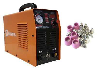 Plasma Cutter 50rx 50 Amp 110220v Power Torch 12 Clean Cut W 25 Cons Simadre