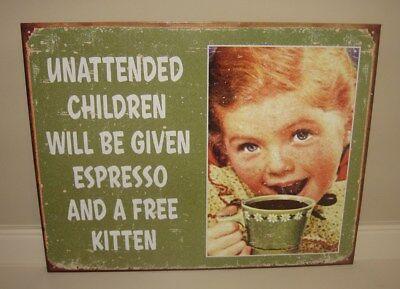 Green Retro Coffee Sign*Primitive Farmhouse/French Country Kitchen/Office Decor