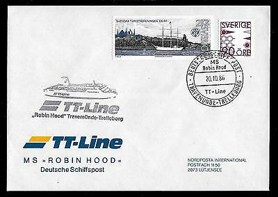Schiffspost MS ROBIN_HOOD / TT-Line / Travemünde-Trelleborg / 1986 Robin Hood Line