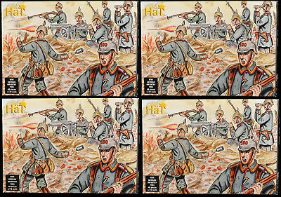 Airfix WW One German Infantry x 4 sets - HO reissues HAT mib 7001 - gray color