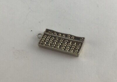 BB Vintage Sterling Silver Charm Of A Chinese Abacus, One Of Many Listed