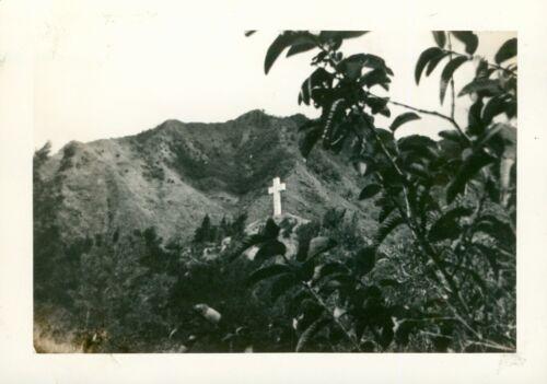 1940s  Kole Kole Pass Oahu Hawaii photo big Cross  on Pass
