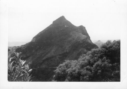 1940s  Kole Kole Pass Oahu Hawaii  2 photos mountains at pass