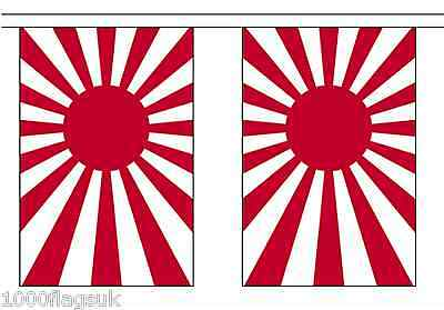 Japan Rising Sun Navy Ensign Polyester Flag Bunting - 9m long with 30 Flags