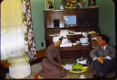 Vtg Kodachrome Color 35mm Slide 1950 Interior Decor Wedding Rehearsal Gifts (1950 Decor)