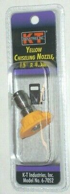 Kt Industries 6-7052 Yellow Chiseling Nozzle 15 Deg X 4.5 Mm Pressure Washer Tip