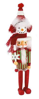 [Kurt Adler Hollywood Nutcracker - Shelf Sitter Snowman Hat Christmas Nutcracker </Title]