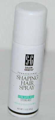 Salon Grafix Shaping Hair Spray Extra Super Hold 1.5 oz NEW - Hold Shaping Spray
