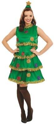 Damen Evergreen Weihnachtsbaum Xmas Neuheit Festlich Kostüm Kleid - Weihnachtsbaum Outfit