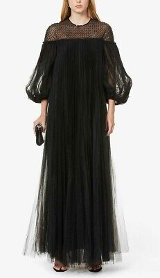 HUISHAN ZHANG Ilaria Sequin-Embroidered Tulle Gown UK 10