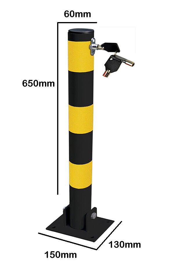 ROUND FOLDING BOLT DOWN SECURITY PARKING POST BOLLARD ENTRANCE DRIVEWAY