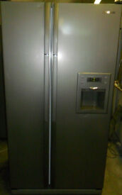 Silver, A Class SAMSUNG American Frost Free F/F With No Plumped in Water Dispenser