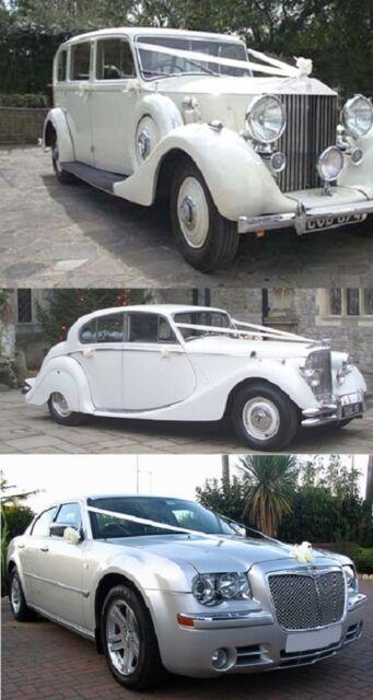 Wedding Car Ribbon Ivory Waterproof 6M & 5 Pull Bows Satin Look Decoration Kit