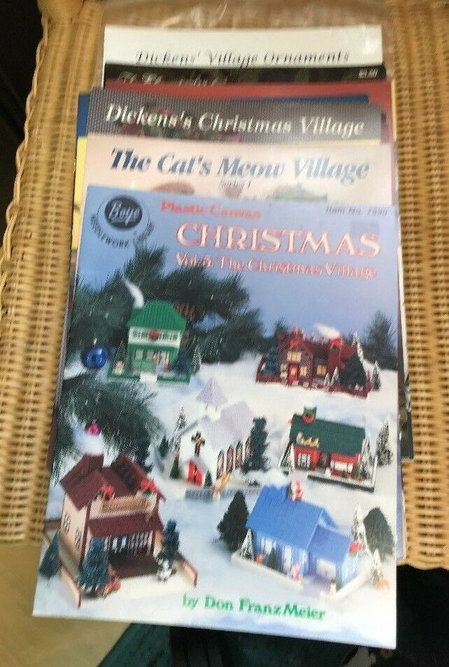 Cross Stitch Pattern Booklets: CHRISTMAS VILLAGES, CAT'S MEO