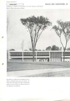 1958 Screens: Office Building In Don Mills, Ontario, John D. Parkin