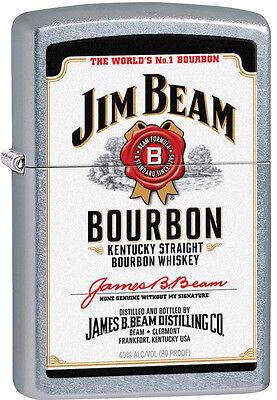 Zippo Jim Beam Bourbon Street Chrome Windproof Lighter 28419 NEW