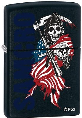 Zippo Sons of Anarchy SAMCRO with Reaper Black Windproof Lighter RARE