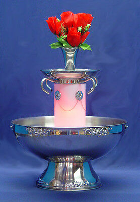 San Marino 5 Gal Stainless Champagne Punch Party Beverage Fountain Silver Trim