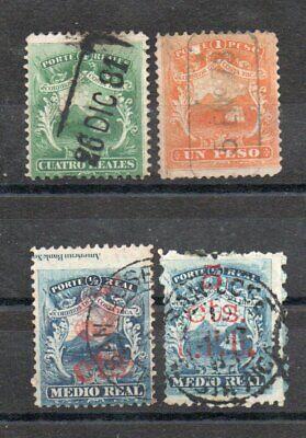 COSTA RICA 1862/81, used lot of 4 inclusive 2 Cts. UPU, also marginal inscript