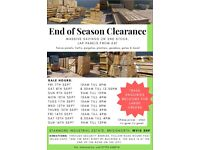 MASSIVE END OF SEASON SALE OF FENCE PANELS & GARDEN PRODUCTS