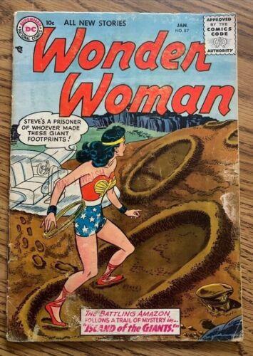 WONDER WOMAN #87 COMIC BOOK (DC,1957) EARLY SILVER AGE +