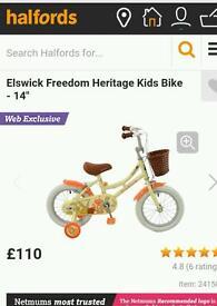 "Girls 14"" bike great condition"