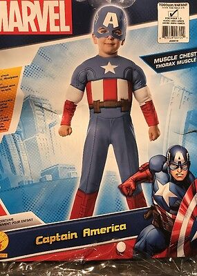 CAPTAIN AMERICA COSTUME TODDLER (2-4) Years Free Shipping