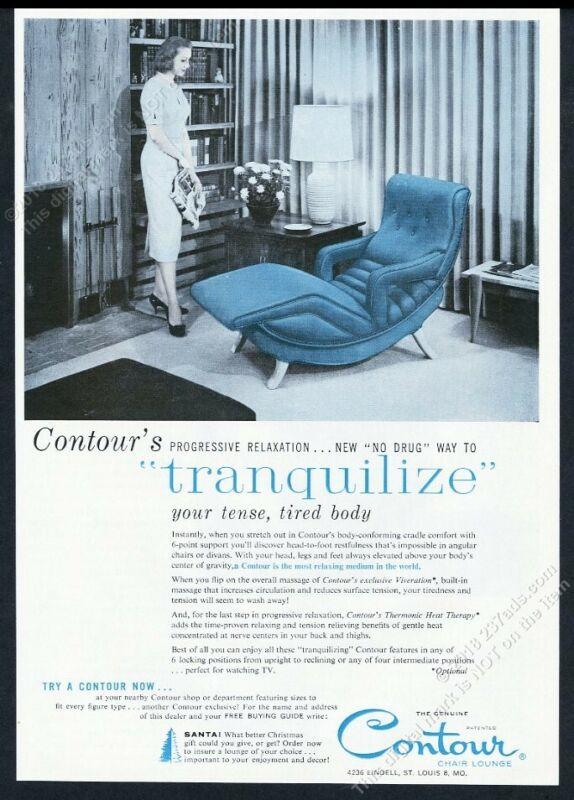 1958 Contour chair photo classic vintage print ad