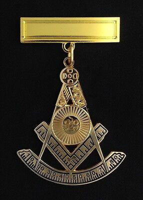 Masonic Past Master's Jewel with Engraving Bar (PM3-PB)