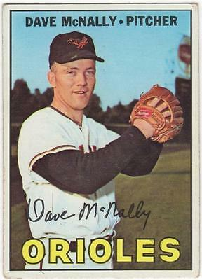 1967 Topps  #382     DAVE McNALLY   BALTIMORE ORIOLES       EX+ to EX-MT