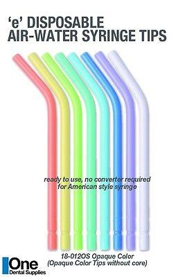 Dental Disposable Air-water Syringe Color Tips Coreless Design 250 Pcs