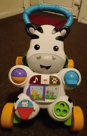 Fisher price zebra baby walker