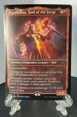 Purphoros, God of the Forge 077 Foil Mythic Magic MTG Theros Secret Lair SLD NM