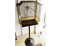 BIRD CAGE WITH STAND -GOOD FOR SMALL BIRD